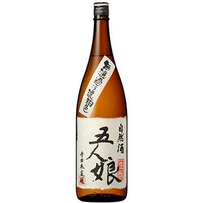 体の細胞が喜ぶ濃醇な味とふくよかな香りの日本酒『五人娘 純米酒』1800ml