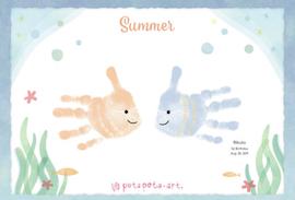 お子さんの成長を、おしゃれで可愛い手形アートで残そう!
